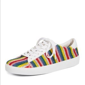 Alice + Olivia Cassidy striped rainbow sneakers
